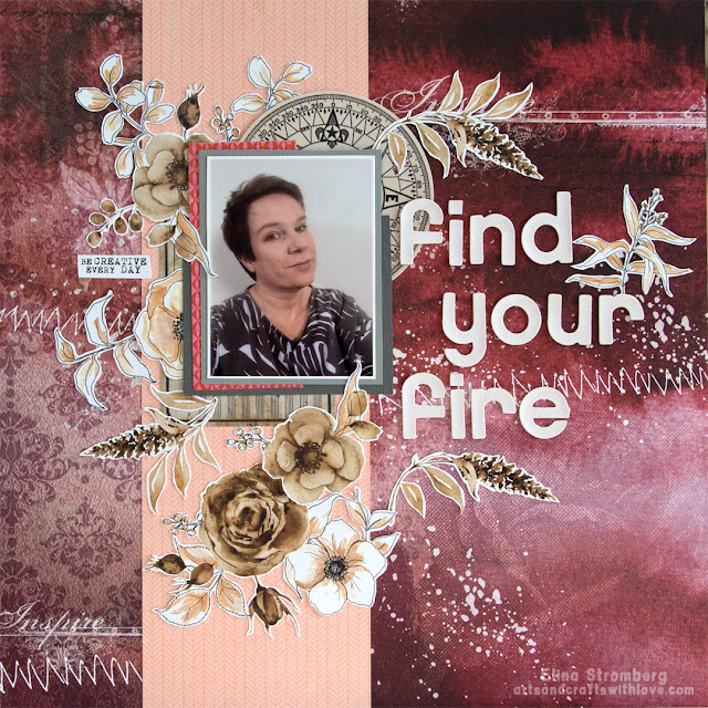 Scrapbooking layout: Find your fire
