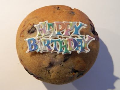 Happy birthday muffin for garden muses: Toronto gardening blog's second birthday!