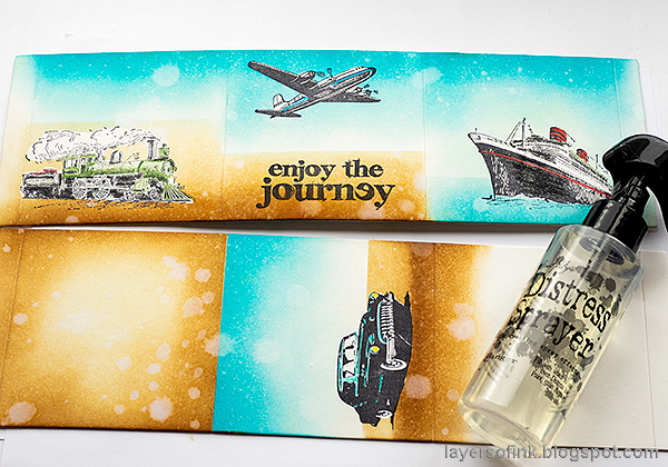 Layers of ink - Vintage Vehicles Box Tutorial by Anna-Karin Evaldsson.