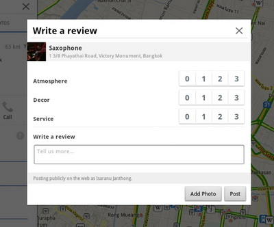 How to write a review on google maps