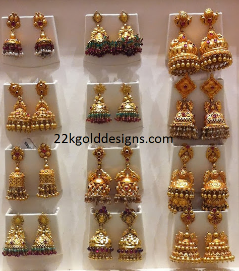 Gold Temple Jhumkas Collection