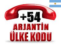 +54 Arjantin ülke telefon kodu