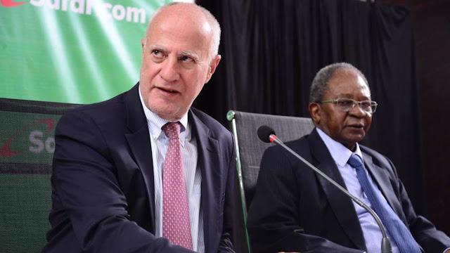 Michael Joseph and Ng'ang'a the former Safaricom Chairman
