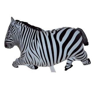 Balon Foil Karakter Zebra