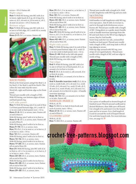 crochet bag - step by step