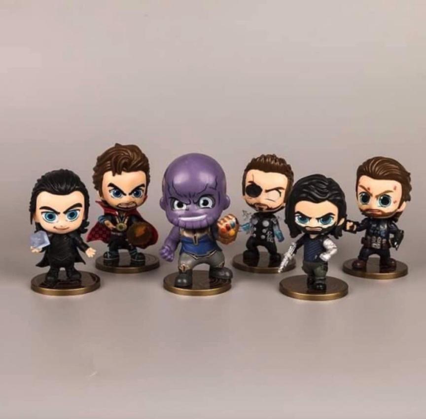 Sét 6 Mô Hình MARVEL - Bộ 6 Nhân Vật Avengers - Mô Hình Avengers