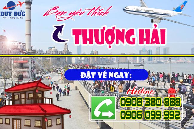 vé máy bay khứ hồi đi Thượng Hải Trung Quốc