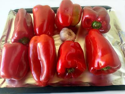 Pimientos asados la cocinera novata receta cocina casera económica baja en calorias entrantes dip vegano vegetariano verduras tupperware congelador