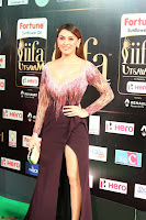 Hansika Motwani in Glittering Deep Neck Transparent Leg Split Purple Gown at IIFA Utsavam Awards 44.JPG