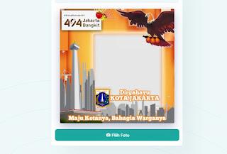 Twibbon HUT Jakarta 494 Maju Kotanya Bahagia Warganya - kanalmu