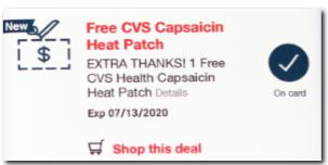 FREE CVS Health Heat Patch