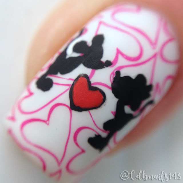 cdbnails143-Mickey and Minnie Mouse Love