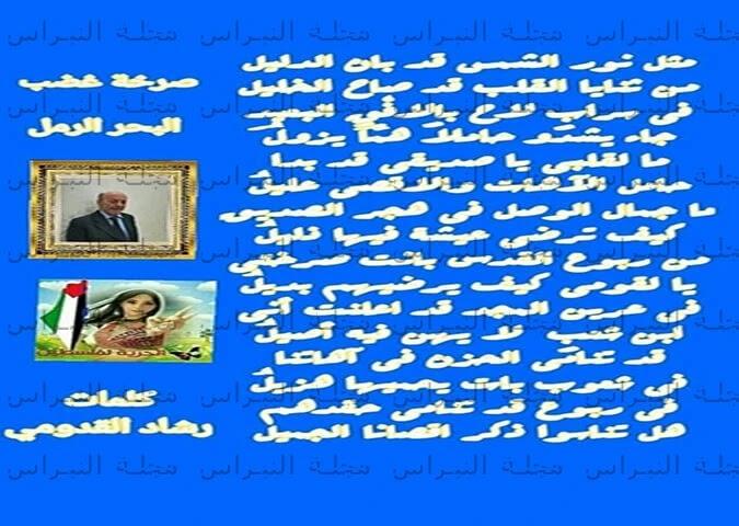 صرخة غضب  البحر الرمل بقلم الشاعر:رشاد القدومي