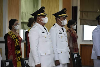 Sah! Vandiko Gultom dan Martua Sitanggang Sebagai Bupati dan Wakil Bupati Samosir Periode 2021-2024