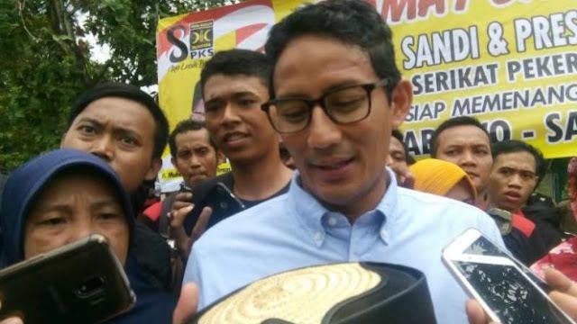 Jokowi Sebut Politikus Sontoloyo, Sandi: yang Benar Ekonomi Ojo Loyo