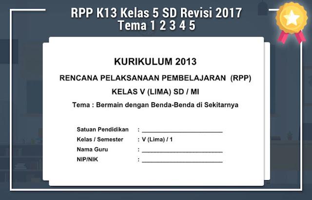 Rpp Matematika Kls 4 K 13 Revisi 2017