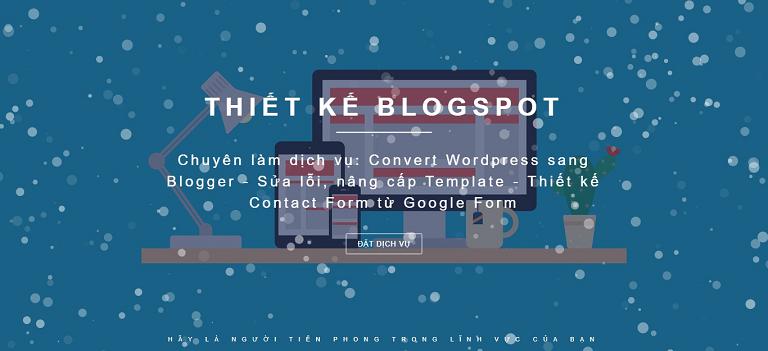 Hiệu ứng toàn trang đẹp thường được sử dụng trong thiết kế Blogspot