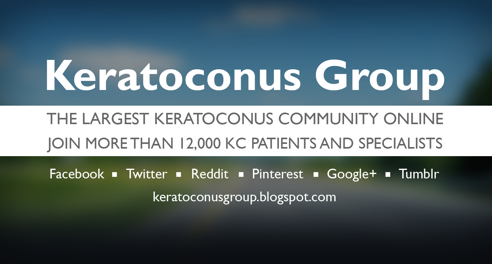 """Keratoconus Group"" The largest keratoconus community online. Join more than 12,000 KC patients and specialists."
