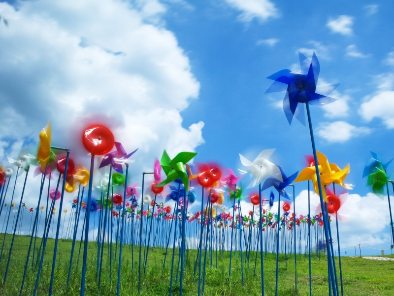 Download Blue Yellow and Red Paper Wind Mill HD wallpaper. Click Visit page Button for More Images.