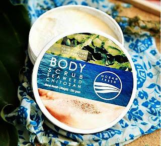 Tekstur Body Scrub Seaweed Chitosan