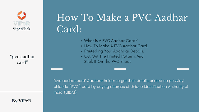 How To Make a PVC Aadhar Card: A Simple, Step-by-Step Guide