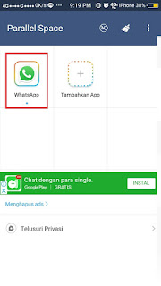 Cara Install Whatsapp Dua Akun