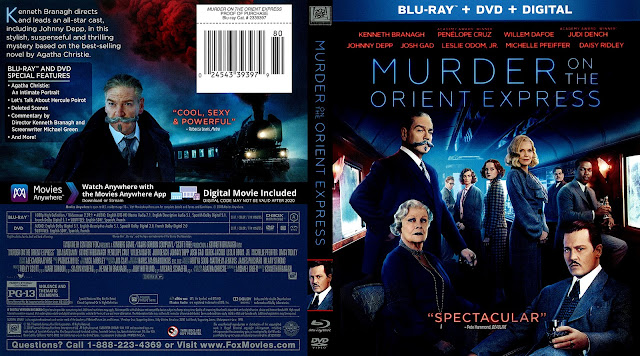 Murder on the Orient Express Bluray / DVD Cover