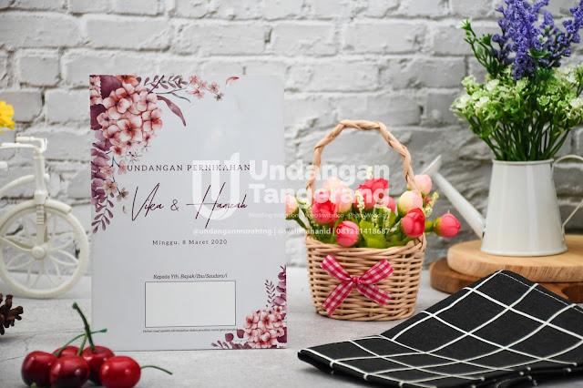 Undangan Pernikahan Murah Minimalis dan Tema Florist - Walimahanid | 0812-1141-8687
