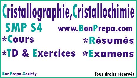 Cristallographie Et Cristallochimie SMP S4 _ Cours _ TD Et Exercices _ Résumés _ Examens