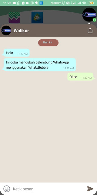 Cara Mengubah Gelembung Whatsapp - contoh