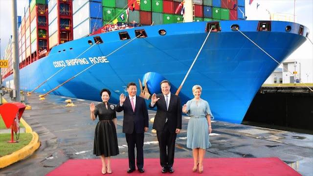 Presidente de China visita canal de Panamá