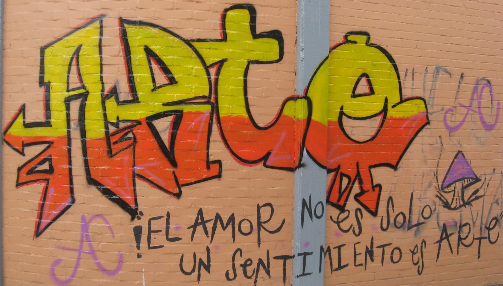 Street art graffiti letras y textos