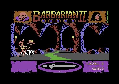 Juegos de lucha y 8 bits: Barbarian II: The dungeon of Drax. [fuente