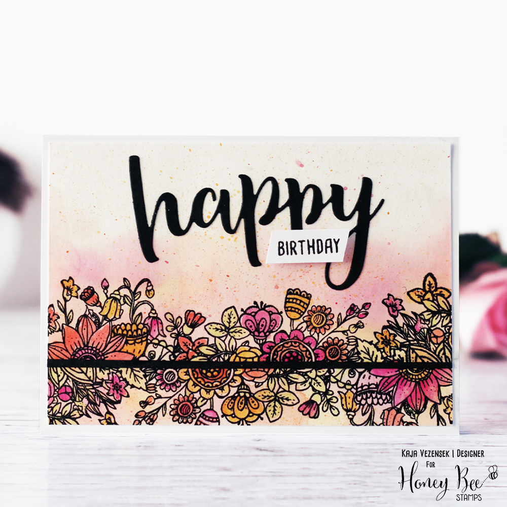 Messy watercoloring | HONEY BEE