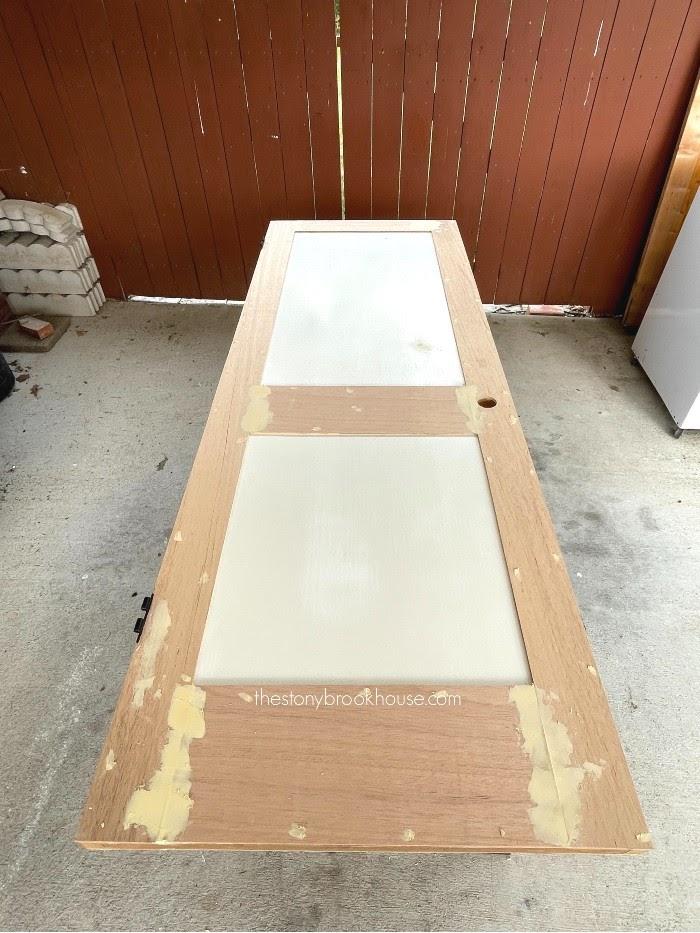 Wood fill joints and caulk panels
