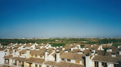 Utsikt från terrasen på min takvåning