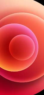 خلفية ايفون 12 حمراء
