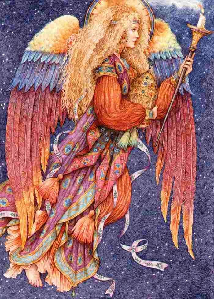 Иллюстрации цветными карандашами. Anne Yvonne Gilbert