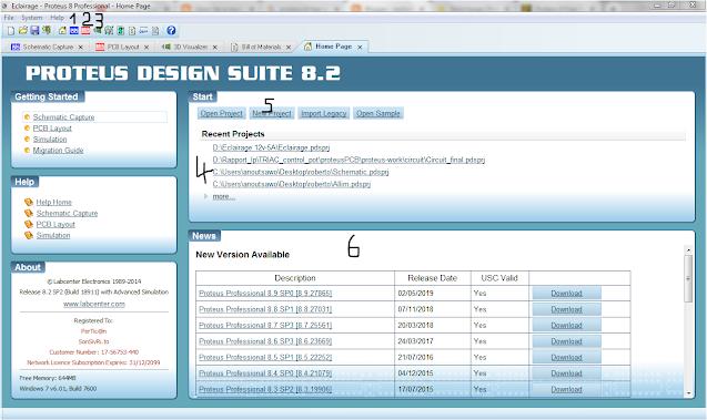 Interface proteus 8