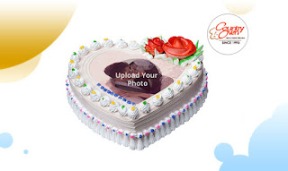 Heartful Special Rosy Photo Cake