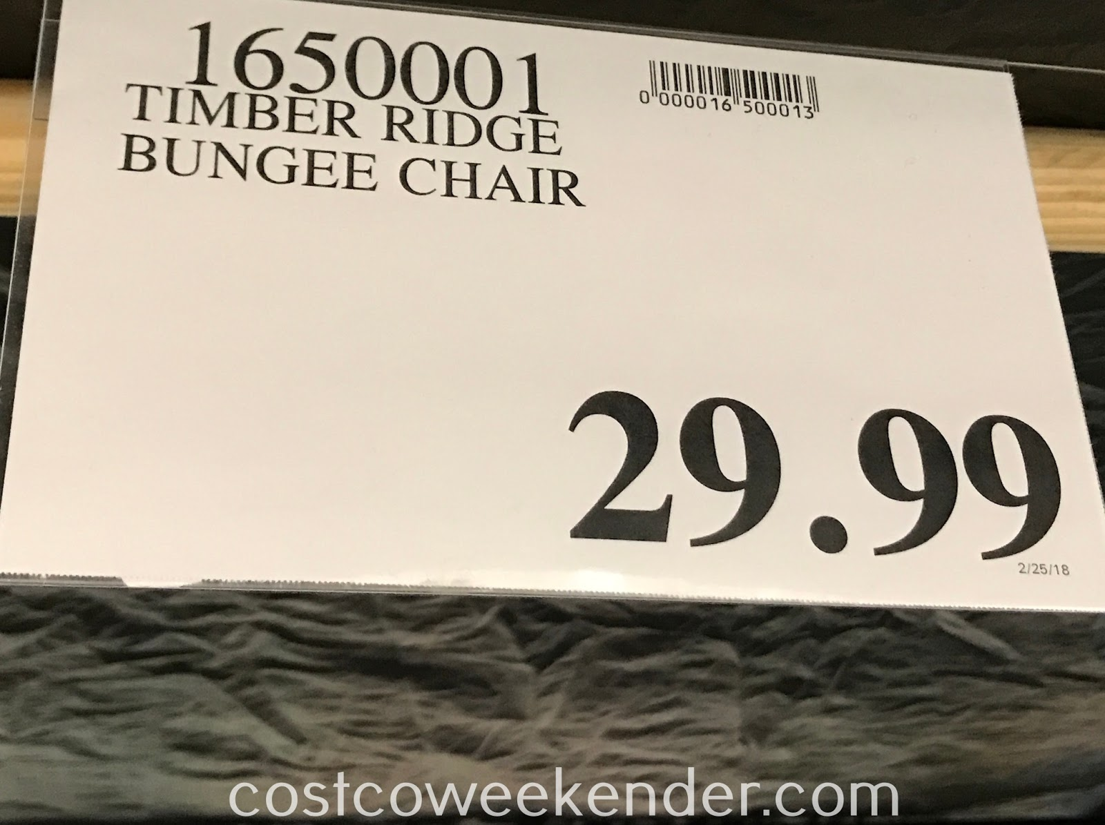 Deal for the Timber Ridge Bungee Chair at Costco