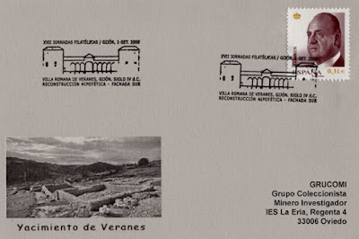 tarjeta, matasellos, filatelia, Veranes, Gijón