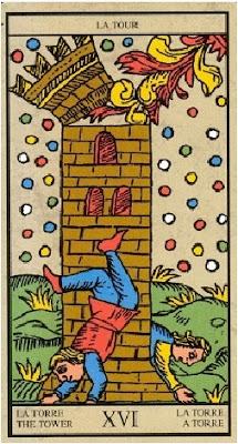 Arcano Mayor de la Torre en Tarot de Marsella
