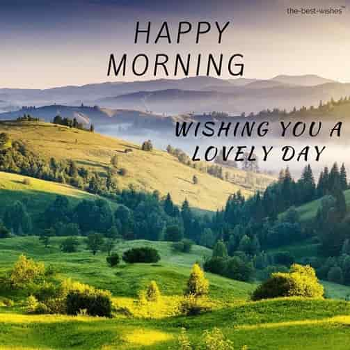 happy morning wishing you a lovely day