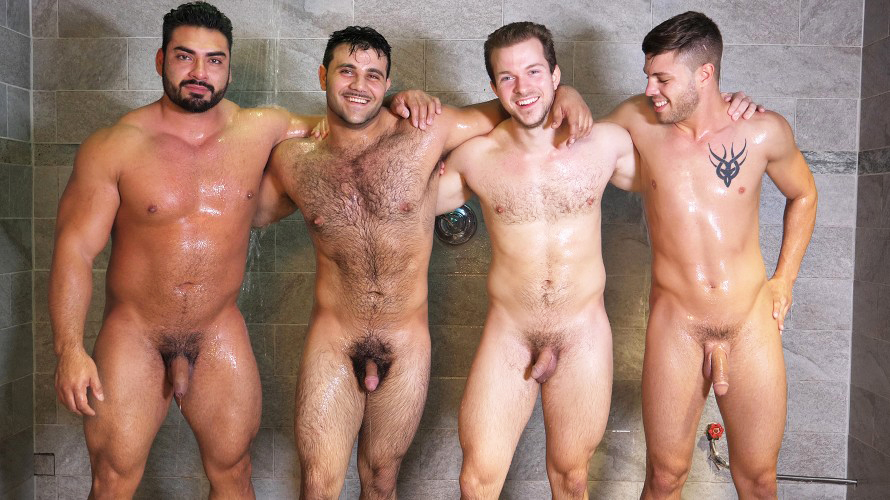 Was specially Naked black male shower together