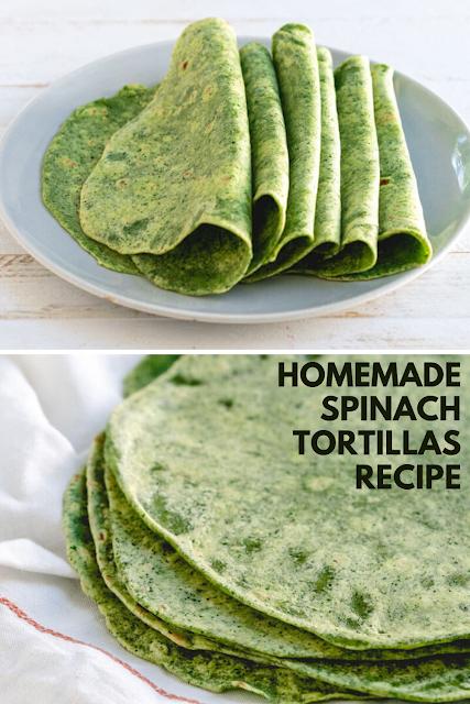 Homemade Spinach Tortillas Recipe