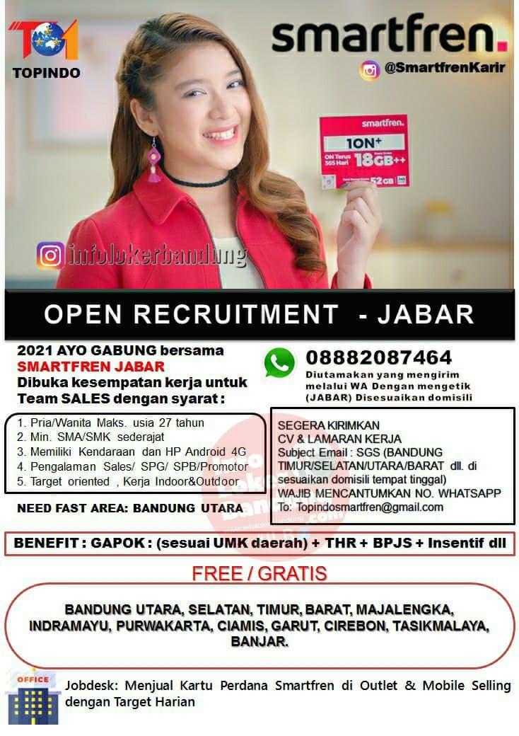Lowongan Kerja Smartfren Jawa Barat Februari 2021