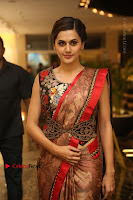 Tapsee Pannu Latest Stills in Red Silk Saree at Anando hma Pre Release Event .COM 0019.JPG