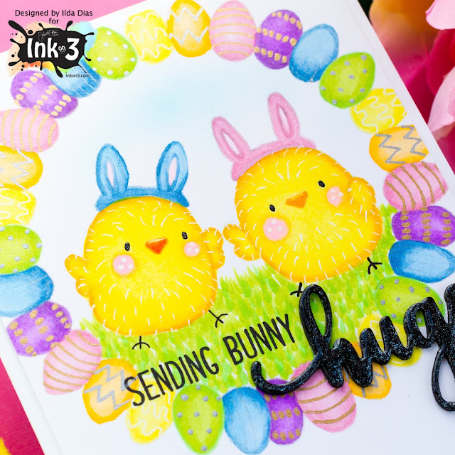 Easter Bunny Hugs Card | Ink On 3