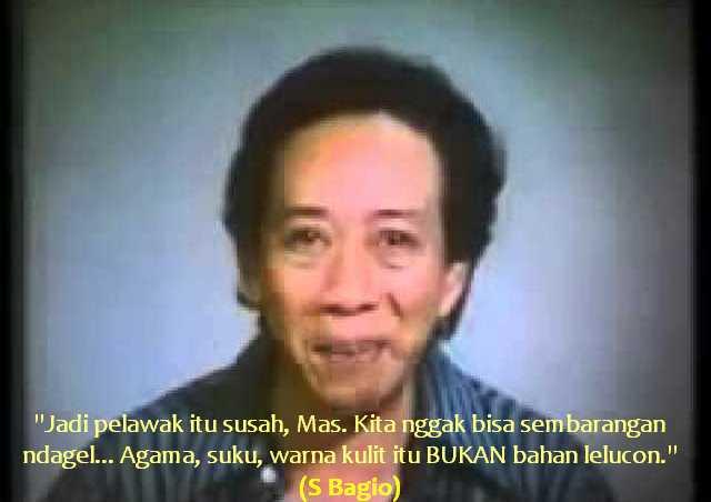 Para Komika Catet Nih Ucapan Senior, Pelawak Legendaris S Bagio: Agama itu Bukan bahan lelucon...